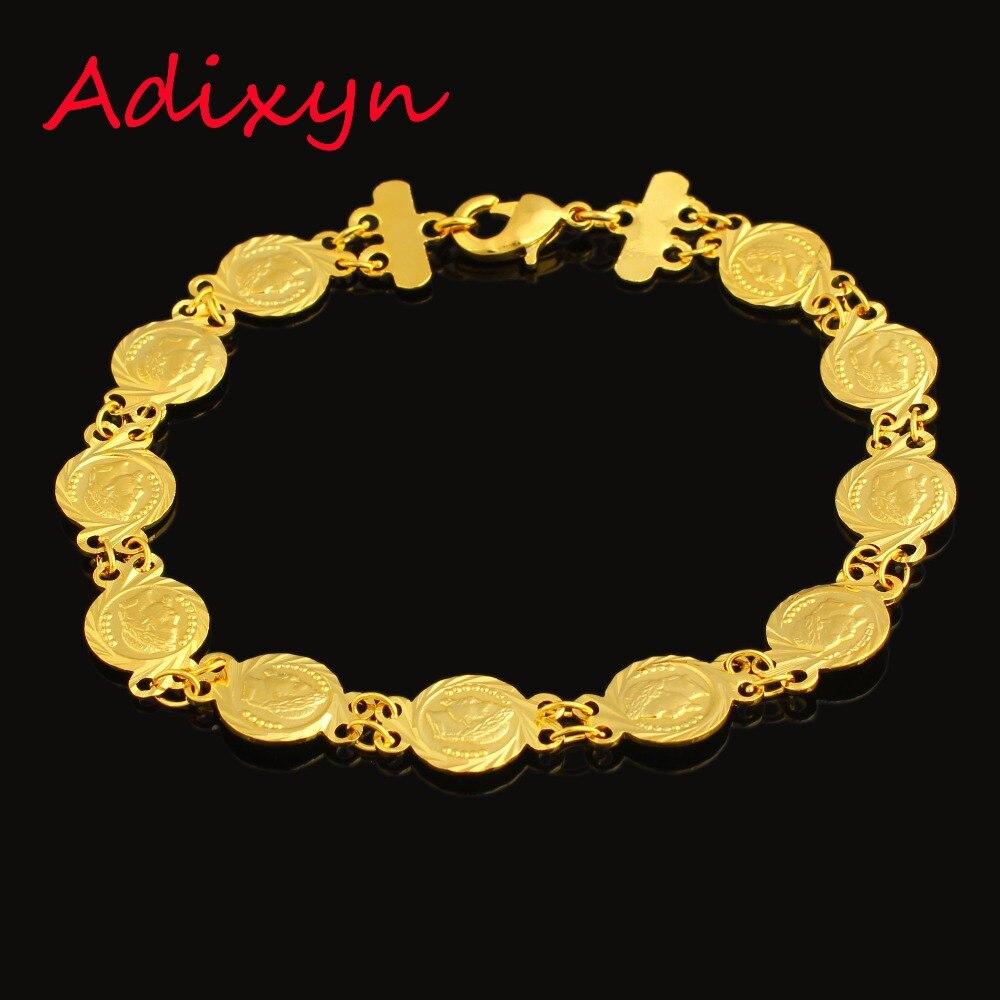 Musilm Gold Coin Bracelet For
