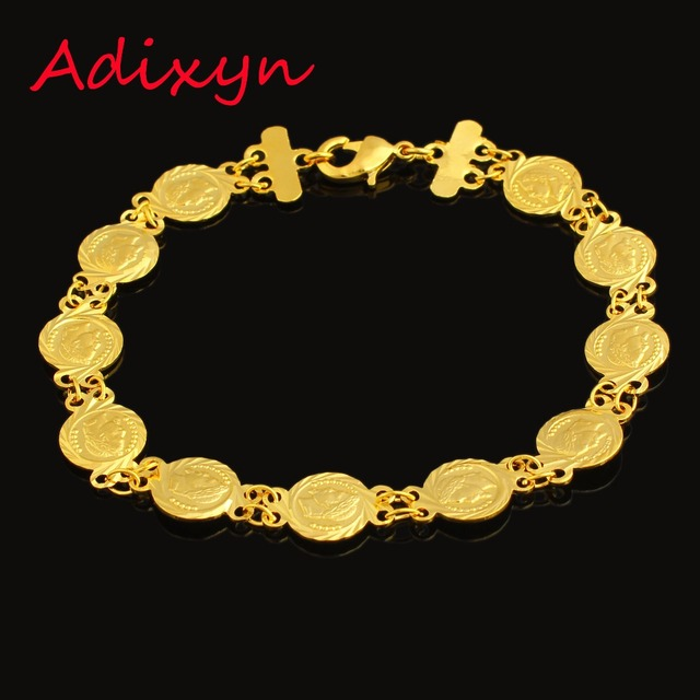 Musilm Gold Coin Bracelet For Women Color Trendy Bangle Men Jewelry Middle East