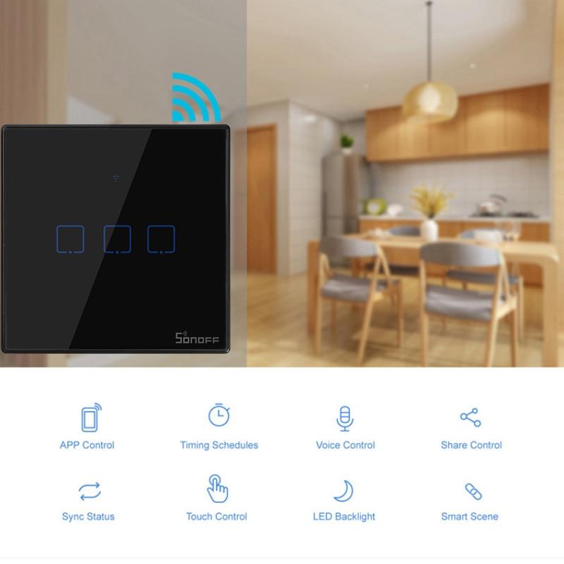 SONOFF WiFi Smart Switches mit 2 Gruppen sind in T3WiFi Wall Switches unterteilt