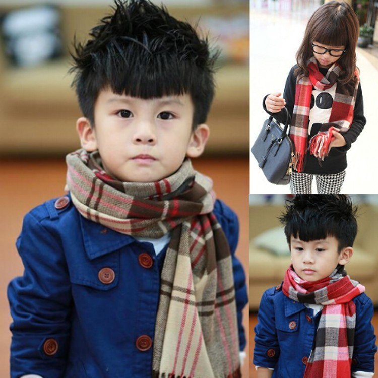 2016 Best Selling Winter Autumn Children Comfortable Warm Scarf New Winter Plaid Cashmere Fringed Scarves For Girls kids Boys
