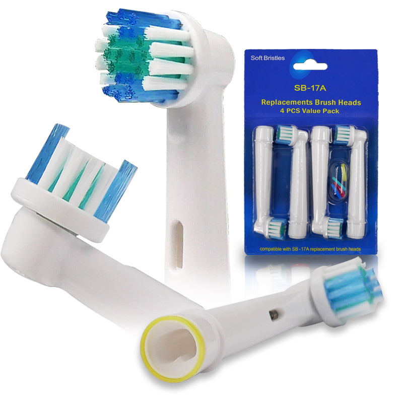 4PCS Oral B Electric Toothbrush Replacement Heads For Braun Tooth Brushes Vitality Sensitive Nozzles Teeth Cleaning Dental Care