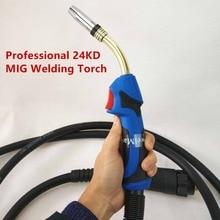 Профессиональный 24KD фонарь 250A MIG фонарь MAG сварочный пистолет 4 м с воздушным охлаждением евро разъем для MIG MAG сварочный аппарат