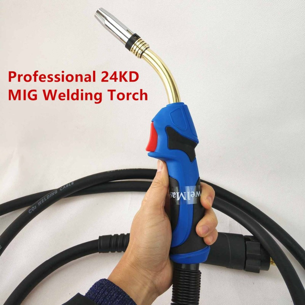 Professional 24KD Torch 250A MIG Torch MAG Welding Gun 4M Air-cooled Euro Connector For MIG MAG Welding Machine