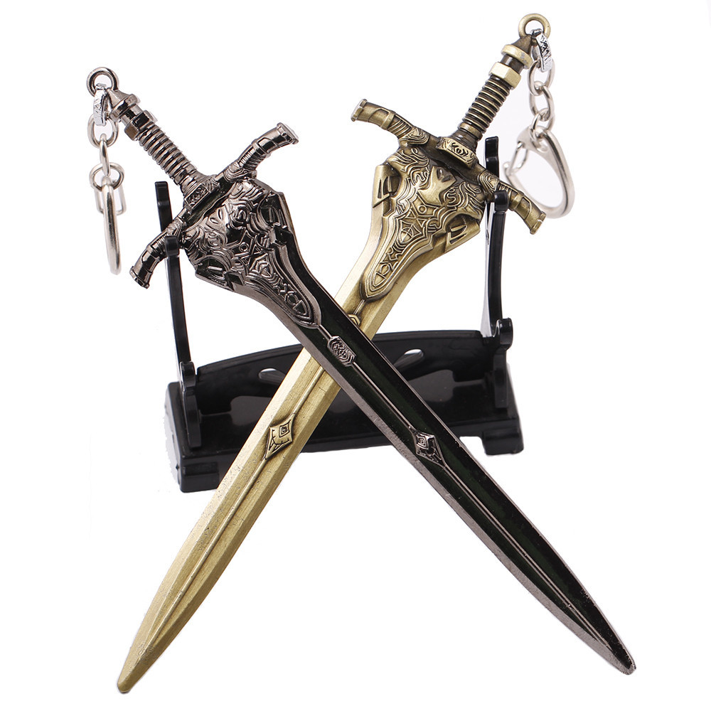 Movie Dark Souls 3 III Weapon Model alloy Keychain Fashion Silver Bronze Sword Keyring Holder Gift Pendat Jewelry image