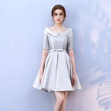 Grey Above Knee Mini Dress  Bridesmaid Dress  Wedding Guest Dress Empire Sexy Back of Bandage blue colour sleeveless above knee mini dress bridesmaid dress wedding guest sexy dress back of bandage