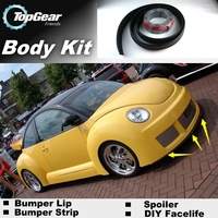 Bumper Lip Deflector Lips For Volkswagen VW New Beetle Bjalla Front Spoiler Skirt For TG Fans Car Tuning View / Body Kit / Strip