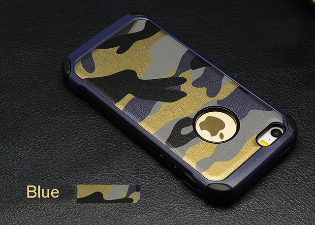 For iPhone 5,5S,SE,6,6S,6plus,6Splus,7,7plus 2in1 Armor Hybrid Plastic+TPU Army Camo Camouflage Rear phone Cover Shockproof