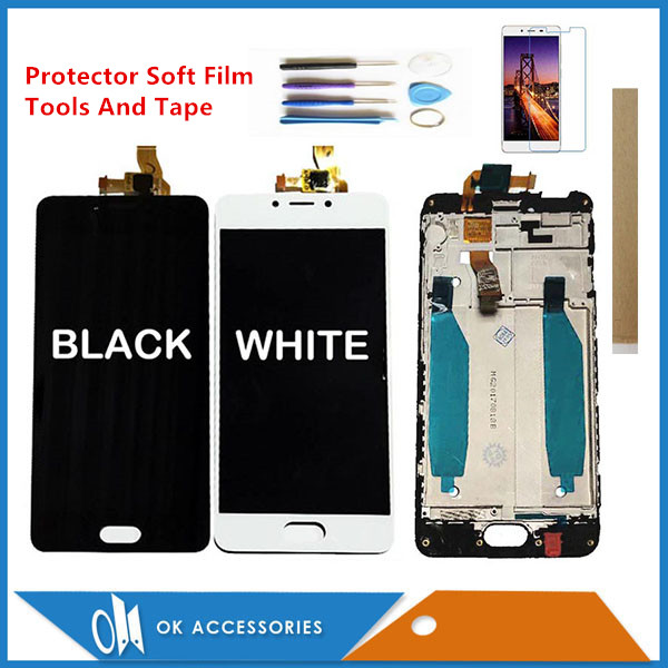 With / Without Frame For <font><b>Meizu</b></font> <font><b>M5C</b></font> M710H A5 LCD Display+Touch Screen Digitizer Assembly Black White Color With Kits image
