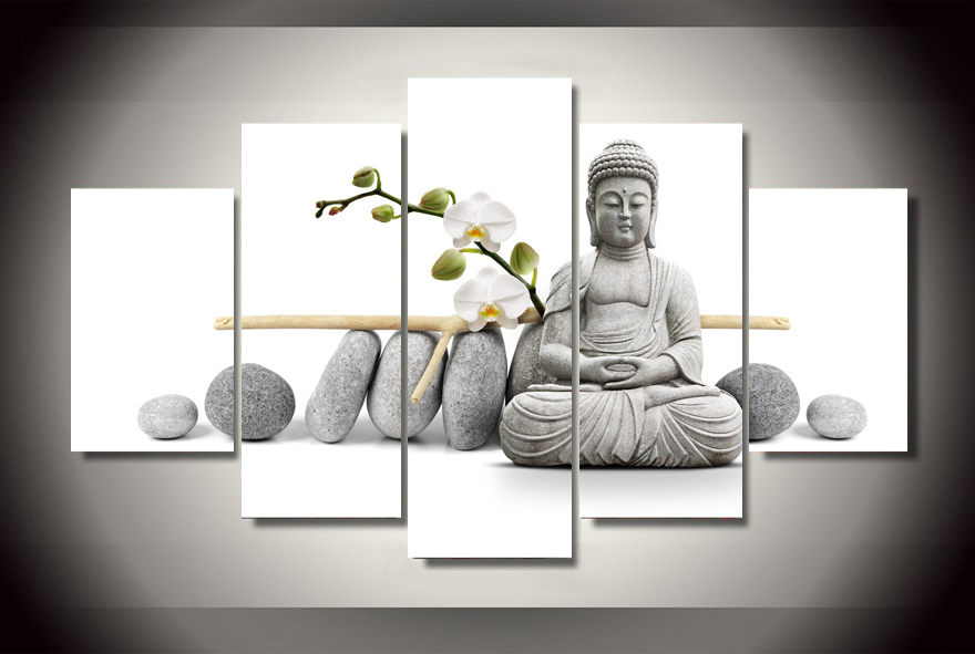 Framed Printed Stone Buddha Painting children's room decor print poster picture canvas Free shipping F/1500