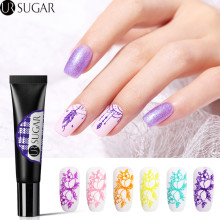 UR SUGAR 8ml Nail Stamping Gel Polish Purple Yellow Soak Off UV Varnish for Art Plate Template