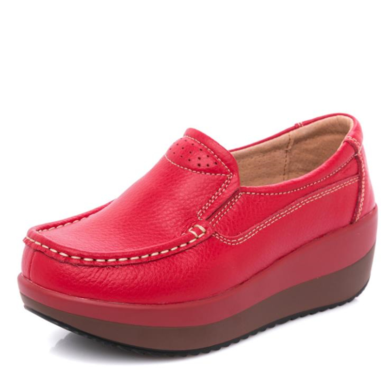 Non laceupblack Nouvelles Plat Décontractées De wihte 2019 35 Dames Femmes Chaussures Confortable En slip Printemps 41 laceupred laceupwhite Red Grande Cuir Respirant Taille black 0ddBpq