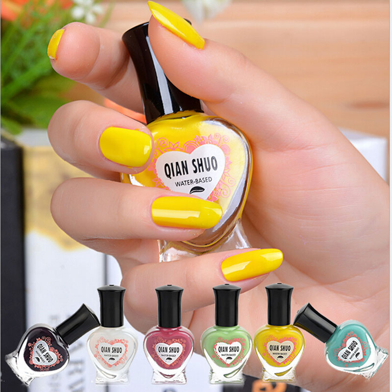 20pcs nail polish nail candy color enamel water based nail varnish cheap peel off nail polish