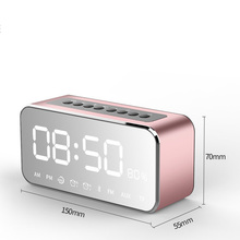 Fashion Bluetooth Speaker with FM Radio Time Alarm Clock MP3 Player LED Stereo Speaker Mirror Clock MYDING