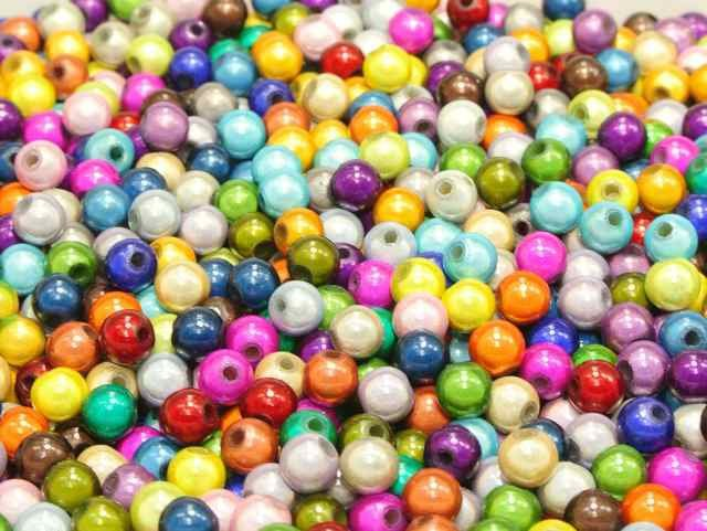50 Mixed Color Acrylic Round Beads 14mm Jelly Tone Smooth Ball
