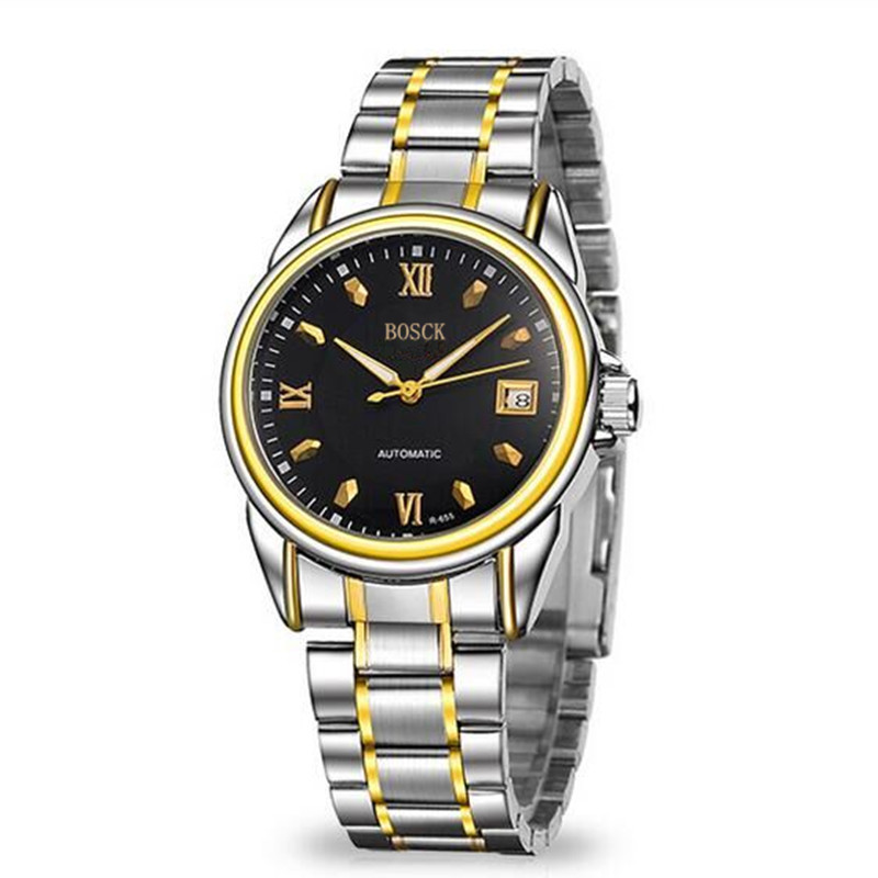 BOSCK655 new men s mechanical watches high end leisure hollow out watches font b luxury b