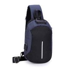 Mens Chest USB Charging Sling Bag Crossbody Tide Cool Style Multipurpose Cross-Border for New Anti-Theft Lock