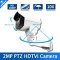 2016 Venda Quente de Segurança CCTV Câmera de 2MP 10X Zoom Óptico Auto Iris Bala PTZ HD TVI Câmara IP66 À Prova de Intempéries Night vision IR 80 M