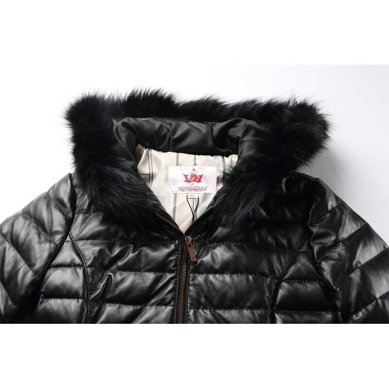 100 Longues Cuir Manteau Femme Maplesteed Naturel Parkas Rouge De Femmes Fourrure Noir Mouton 175 Peau D'hiver En Capuche Long SXYqqw