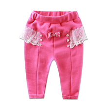 Little Q baby girls clothes kids cotton pants winter infant clothing lace princess children underwear