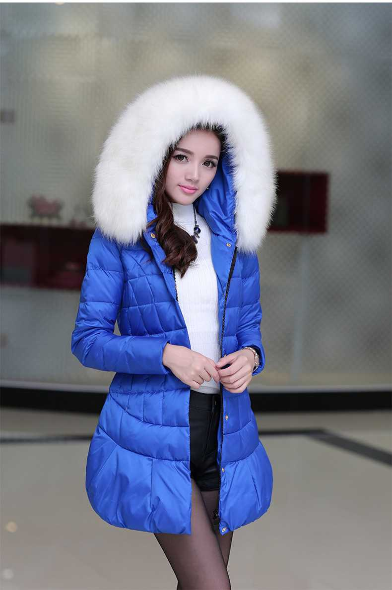 New Arrival Fashion Winter Korean Hooded Down Jackets Coat Fur Collar Thickening Warm Long Sleeves Fluffy Hem Women Coat H5223 new arrival fashion korean winter hooded cotton adjustable hem double breasted puff sleeve fur collar women jacket coat h4283