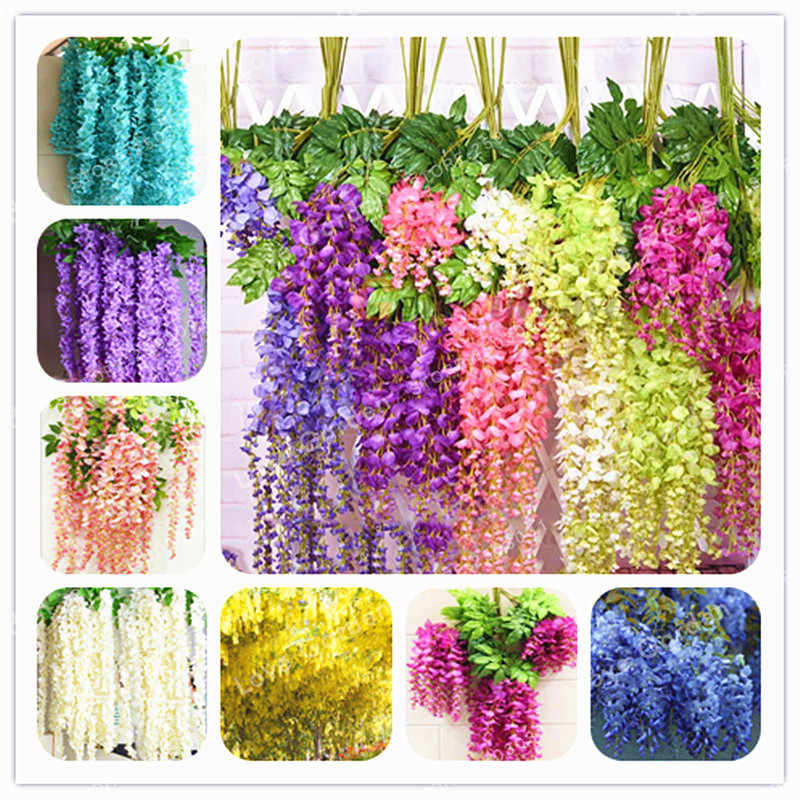 Wisteria Flower  Bonsai Wisteria Purple Yellow White Pink Wisteria Bonsai Indoor Ornamental Plants Flower 10 Pcs / Bag
