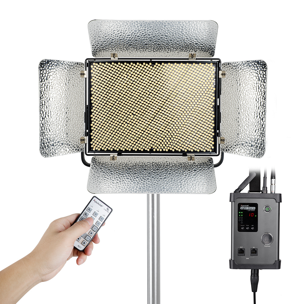 Aputure Light Storm LS 1s 1536 SMD LED Video Studio Light Panel  High CRI 95+ 5500K 120W 2.4G Remote with A-mount Plate