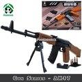 AK 47 Rifle de Gran Tamaño Arma Building Blocks Set 617 unids compatible con ladrillos lego modelos y juguetes de construcción de armas del ejército bloques