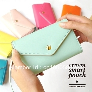 2013 Newest Donbook Crown Smart Pouch upgrade model big capacity purse wallet ,can put the samsung S3 in the bag,20pcs/lot