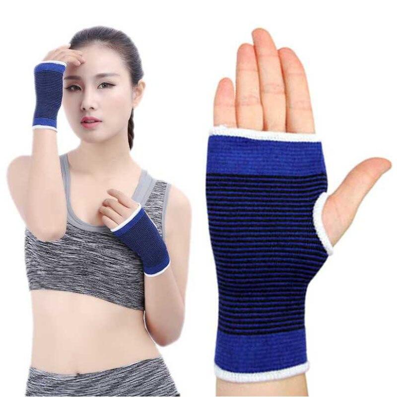 Hand Palm Support Brace Health Care Fingerless handguard Wrist Brace Women Protector Elastic Mitts Men Gym Sports Gloves Mittens