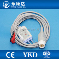 For M1735A One Piece patient monitor 3leads ECG cable,AHA,Snap