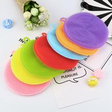 Silicone Dish Washing Sponge Scrubber Kitchen Cleaning antibacterial Strong effect to Grease Tool Kitchen accessories