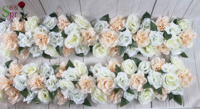 Spr Freies Verschiffen Hochzeit Ideen Rosenbogen Reihe Blumen 10