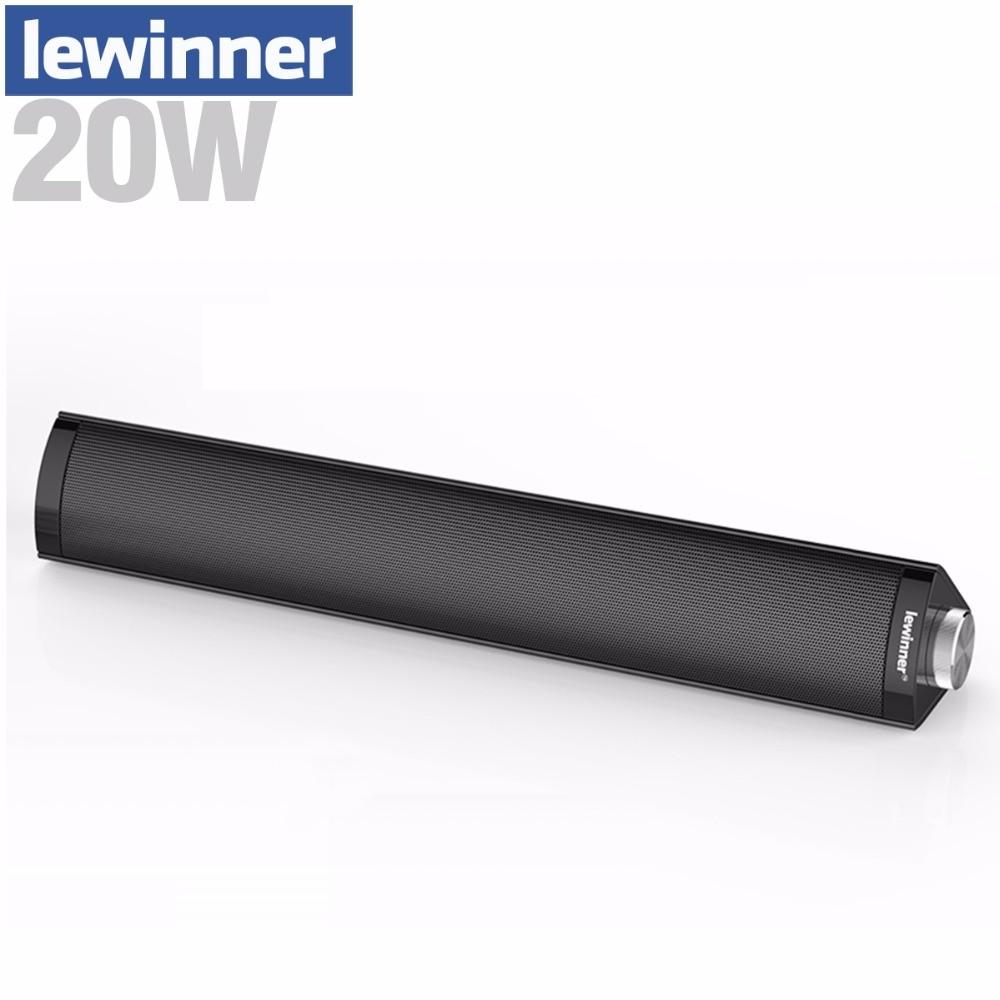 Lewinner 20W Portable Column Bluetooth Speaker wireless speaker 3D Surround Subwoofer HIFI Soundbar Boombox for Phone PC Laptop