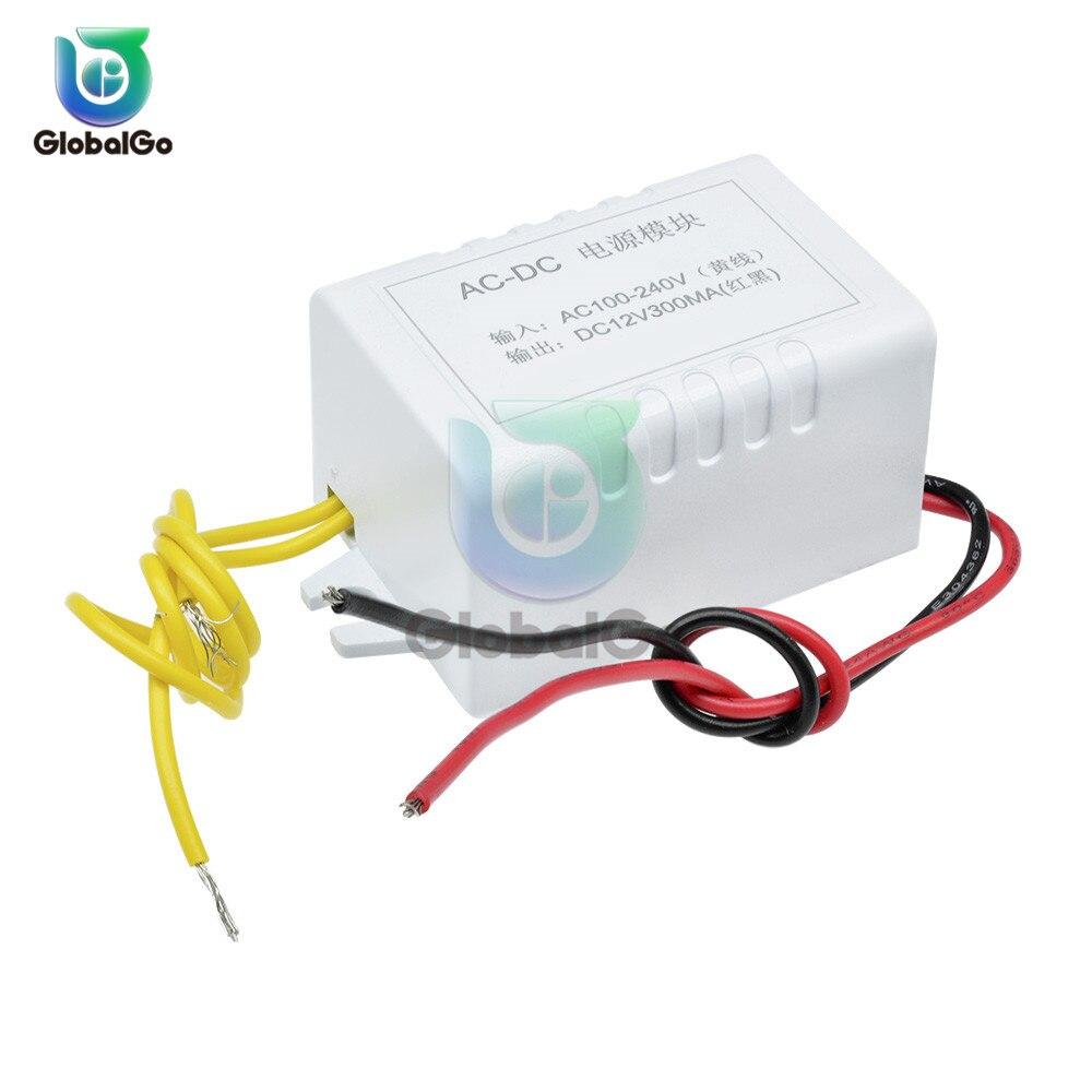 300 мА трансформатор силовой модуль AC 110-220 В к DC 12 В блок питания конвертер адаптер переключатель для Diy Kit