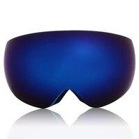 Invierno Al Aire Libre de Snowboard Gafas De Esquí Gafas Esféricas de Cristal Anti-niebla de Doble Lente Gafas Para Adultos Hombres Dama