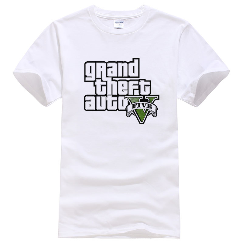 Gta-5   T     Shirt   Men GTA 5   T  -  shirt   Men Summer Cotton Brand TShirts Homme Fashion Tops Camisa GTA Tees #043
