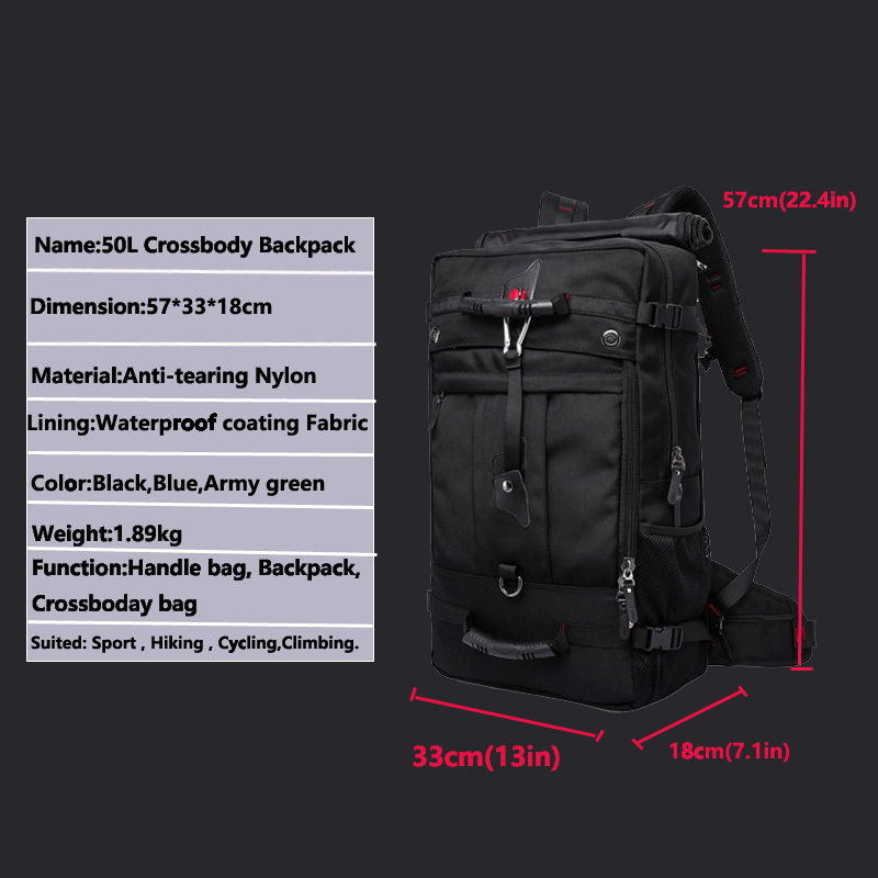 TAK YIYING Outdoor Sports Tactical Backpack For Camping Hiking Climbing Men's Backpack Nylon Bag Mountaineering bag 33-55L 6