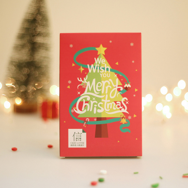aliexpress com buy 30 pcs lover brand merry christmas postcard greeting card christmas