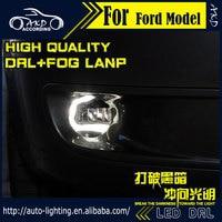 AKD Car Styling For Ford Mustang LED Fog Light Fog Lamp Mustang LED DRL 90mm High