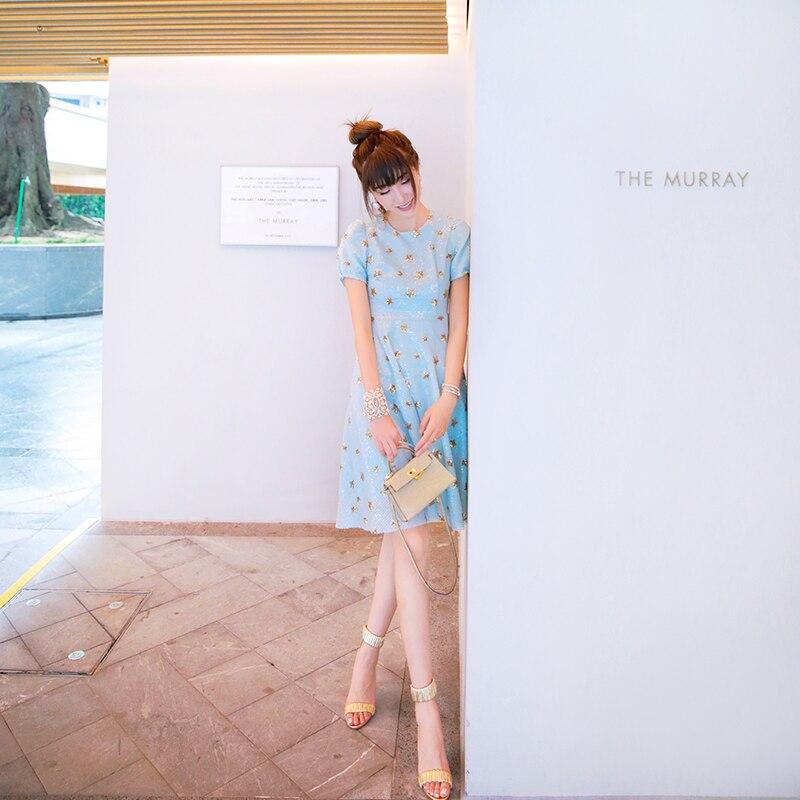 Kadın Giyim'ten Elbiseler'de Yeni dikkatli makinesi payetli elbise backless tasarım kadın uzun boylu bel yaz tatlı yıldız'da  Grup 3