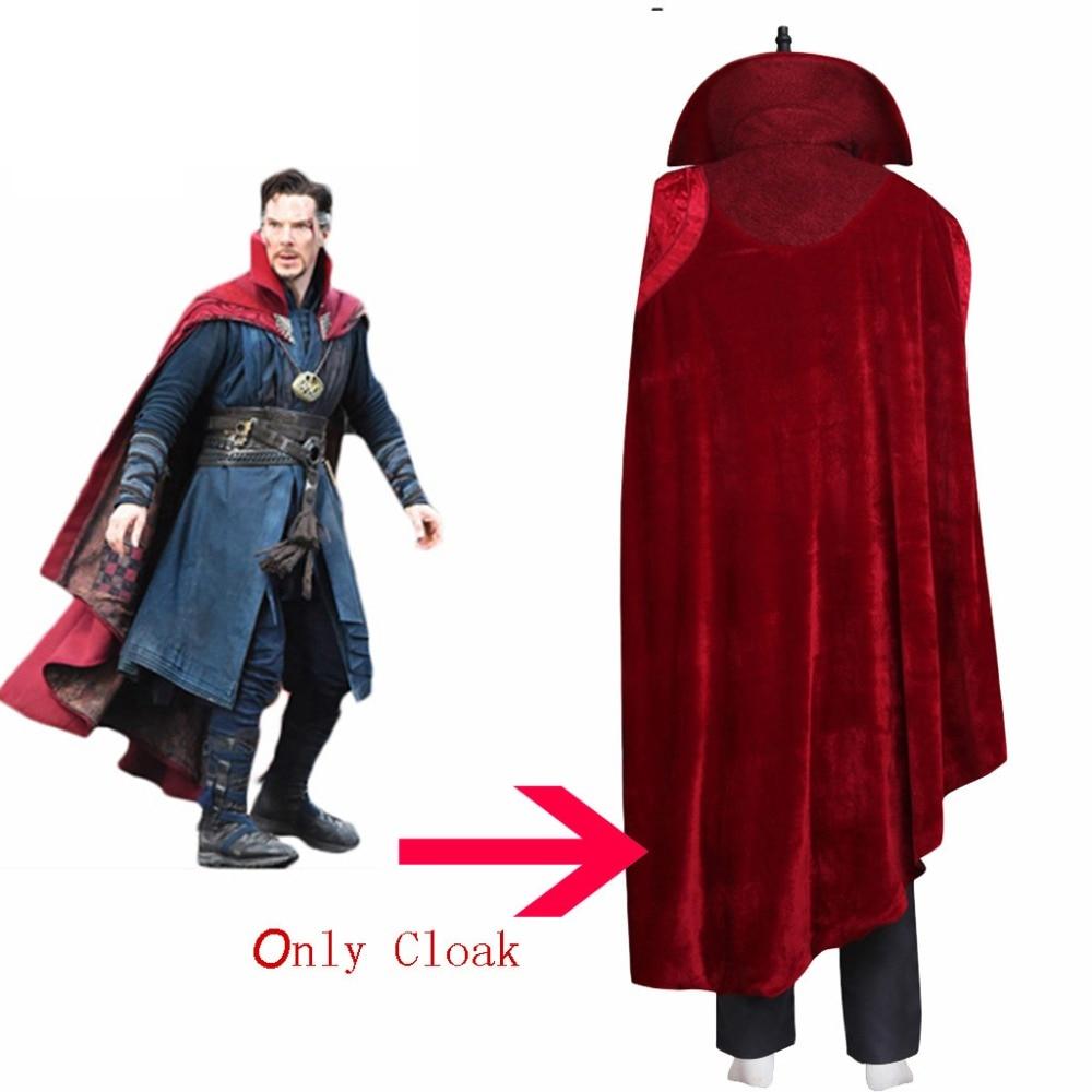 Cosplaydiy Doctor Strange Cloak Doctor Dr.Steven Vincent Strange Benedict Cumberbatch Mens Cloak Costume Any Size L320