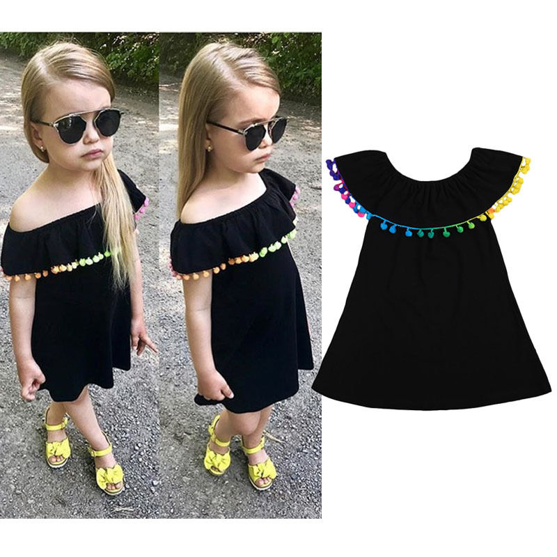 2017 New Summer Toddler Infant Newborn Baby Girls Sweet Clothes Multi Colors Tassels Princess Party Dress 1-6Y 2pcs ruffles newborn baby clothes 2017 summer princess girls floral dress tops baby bloomers shorts bottom outfits sunsuit 0 24m