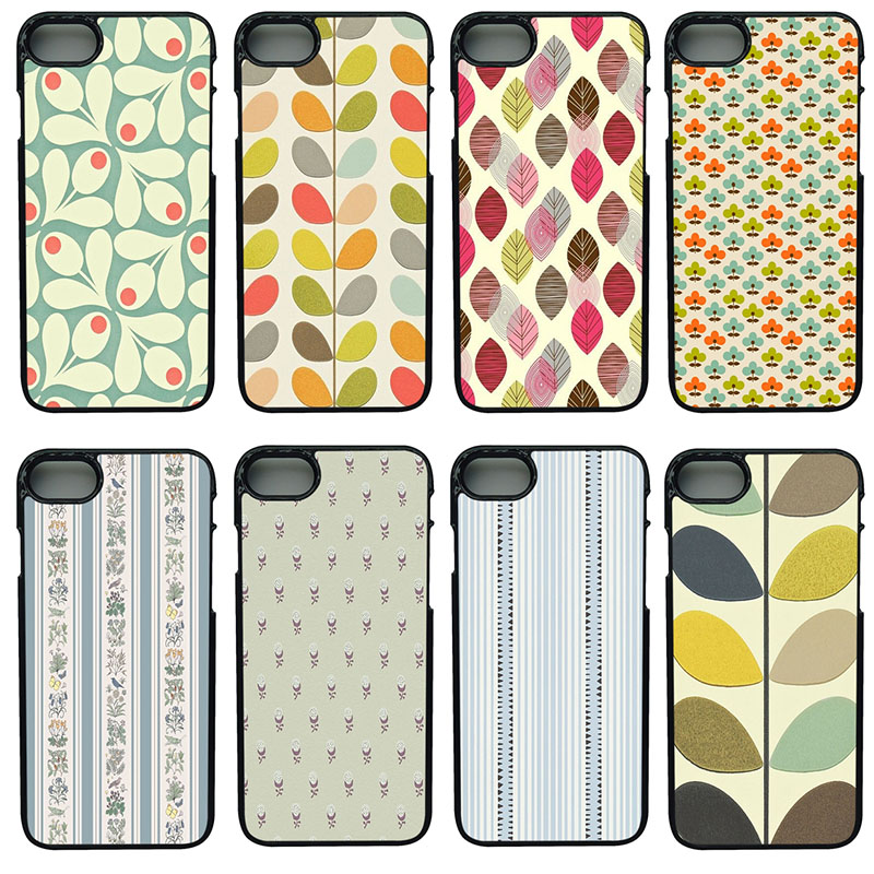 big sale 16562 efe26 US $4.99 |Unique Orla Kiely Art Books Poster Phone Case Anti knock Black  Smooth PC Plastic Hard Case for iphone 8 7 6 6S PLUS X 5S 5 SE-in Fitted ...