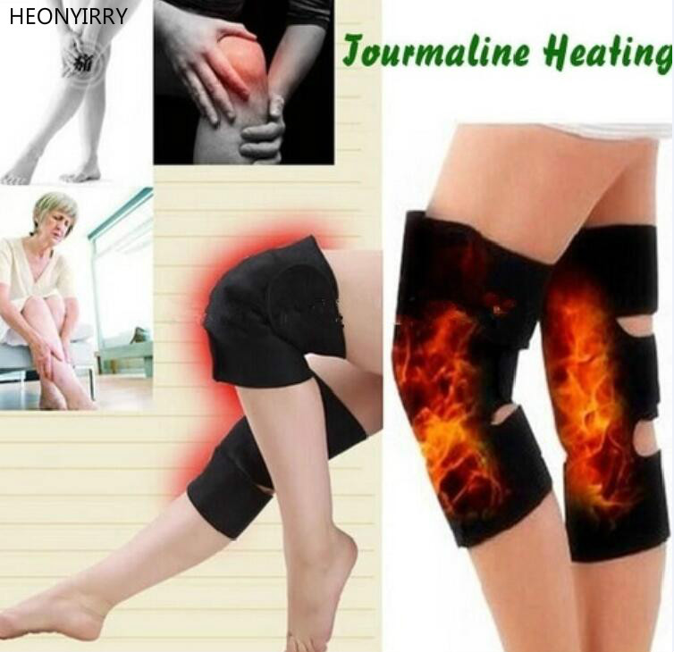 2PCS Knee Brace Support Pads Adjustable Tourmaline self-heating magnetic therapy Knee Protective Belt Arthritis Knee Massager 1