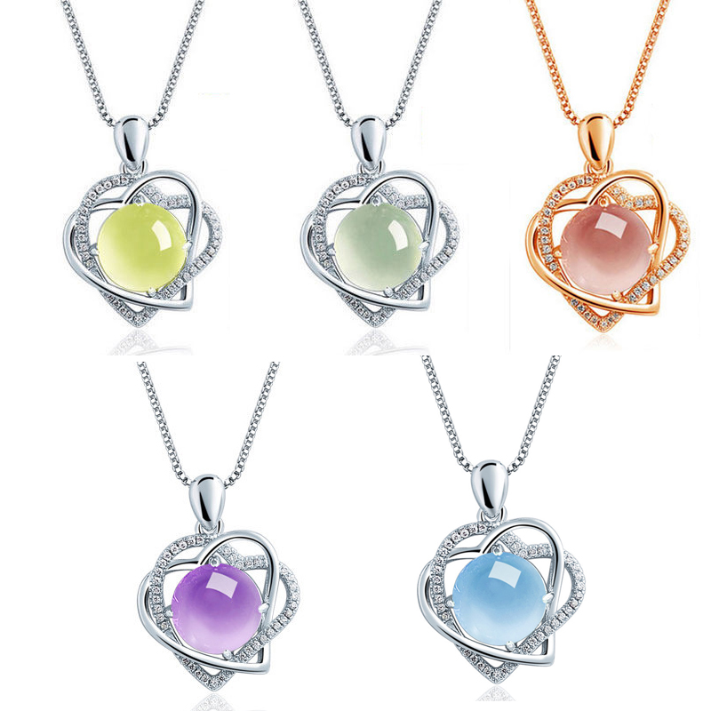925 silver heart pendants necklaces jewelry (3)
