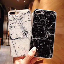 Silver Foil Marble For Iphone 6 6s 7 8P X Xs Xr Max Anti-Drop Mobile Phone Case