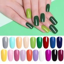 LILYCUTE Green UV Gel Nail Polish Vernis Semi Permanant Nail Art Decoration Pure Nail Gel Varnish Manicure Nails Design 5ml