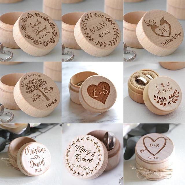 Wedding Ring Box Custom Name Handmade Letter Jewellery Box Boite A Bijoux Boite Cadeau Sieraden Doos Jewelry Boxes Ring Box