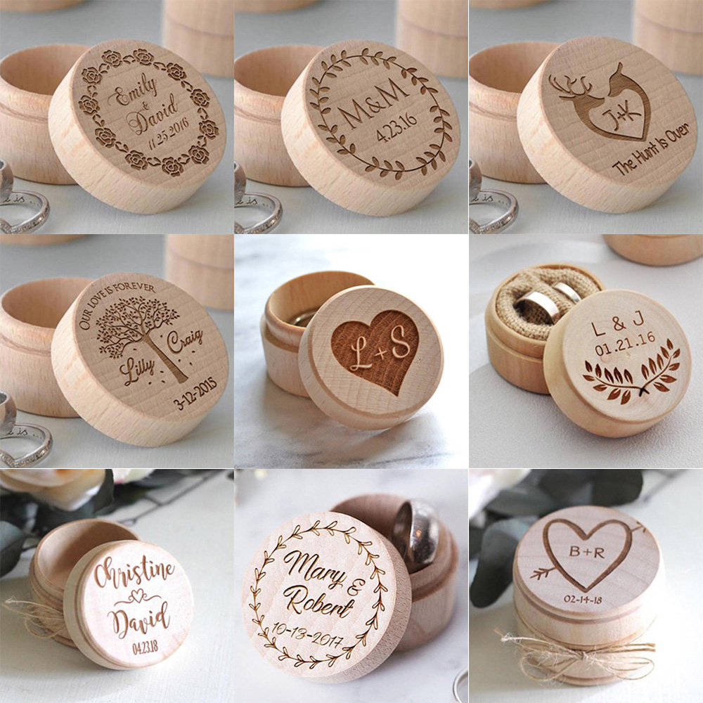 Wedding Ring Box Custom Name Handmade Letter Jewellery Box Boite A Bijoux Boite Cadeau Sieraden Doos Jewelry Boxes Ring Box