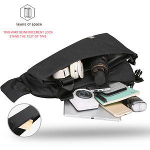 Image 3 - Mark Ryden New Arrivals USB Design High Capacity Chest bag Men Crossbody Bag suit for 9.7 inch Pad  Water Repellent Shoulder Bag